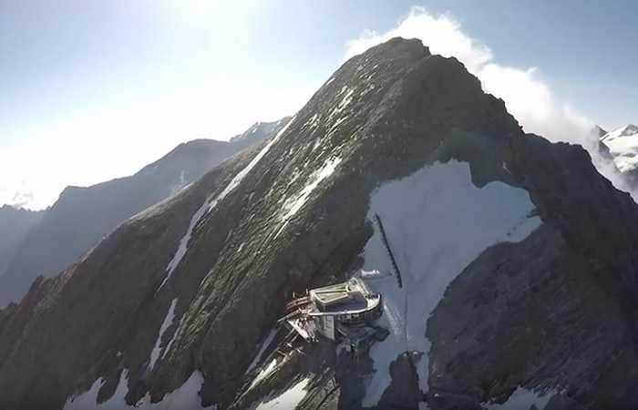 Kaprun, plate-forme panoramique de Gipfelwelt 3000