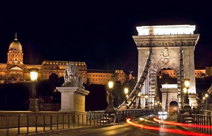 Новый Год в Будапеште, набережная Дуная