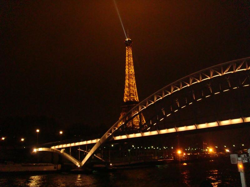Вечерний Париж,прогулка по Сене